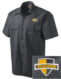 Wildflower Elementary School Wildcats Embroidered Dickies Men's Short-Sleeve Workshirt