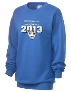 Bert M Lynn Middle School Leopards Unisex 7.8 oz Lightweight Crewneck Sweatshirt