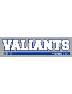 "Vine Elementary School Valiants Bumper Sticker 11"" x 3"""