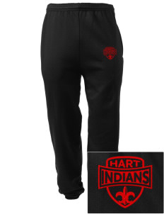 Hart High School Indians Embroidered Men's Sweatpants with Pockets