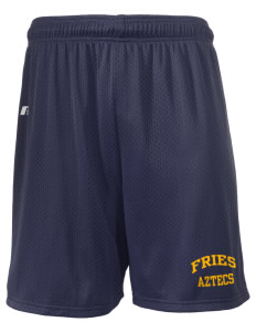 "Fries Elementary School Aztecs  Russell Men's Mesh Shorts, 7"" Inseam"