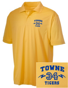 Towne Elementary School Tigers Embroidered Men's Micro Pique Polo