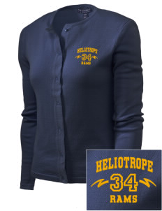 Heliotrope Elementary School Rams Embroidered Women's Cardigan Sweater