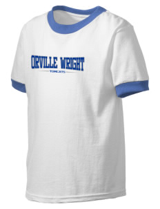 Orville Wright Middle School Tomcats Kid's Ringer T-Shirt