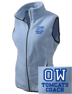 Orville Wright Middle School Tomcats Embroidered Women's Fleece Vest