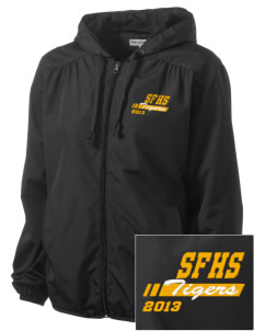 San Fernando High School Tigers Embroidered Women's Hooded Essential Jacket