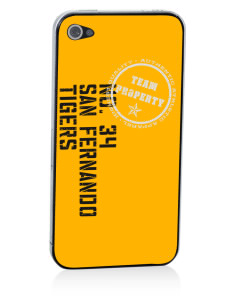 San Fernando High School Tigers Apple iPhone 4/4S Skin