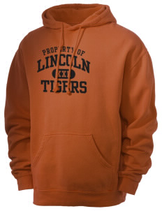Lincoln High School Tigers Men's 80/20 Pigment Dyed Hooded Sweatshirt