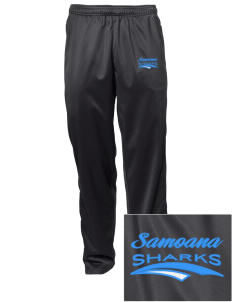 samoana high sharks Embroidered Men's Tricot Track Pants