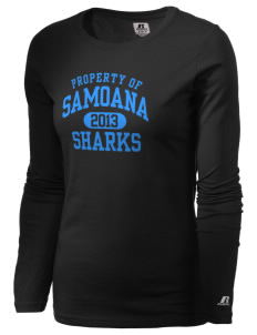 samoana high sharks  Russell Women's Long Sleeve Campus T-Shirt