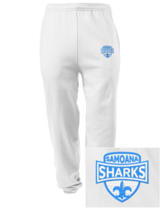 samoana high sharks Embroidered Men's Sweatpants with Pockets