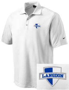 Langdon Elementary School Lions Embroidered Nike Men's Dri-FIT Pique II Golf Polo