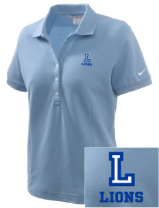 Langdon Elementary School Lions Embroidered Nike Women's Pique Golf Polo