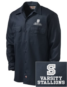 Stonehurst Elementary School Stallions Embroidered Dickies Men's Long-Sleeve Workshirt