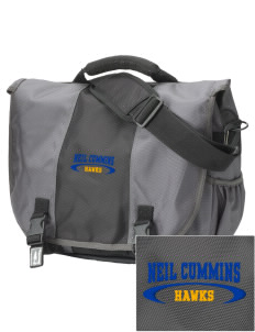 Neil Cummins Elementary School Hawks  Embroidered Montezuma Messenger Bag