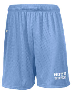 "Noyo High School Mustangs  Russell Men's Mesh Shorts, 7"" Inseam"