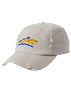 Dos Palos High School Broncos Embroidered Distressed Cap