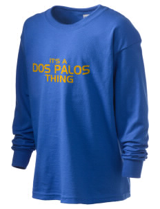 Dos Palos High School Broncos Kid's 6.1 oz Long Sleeve Ultra Cotton T-Shirt