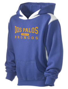 Dos Palos High School Broncos Kid's Pullover Hooded Sweatshirt with Contrast Color