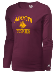 Mammoth High School Huskies  Russell Women's Long Sleeve Campus T-Shirt