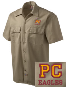 Pinnacles Continuation High School Eagles Embroidered Dickies Men's Short-Sleeve Workshirt