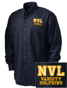 Napa Valley Language Center Dolphins Embroidered Tall Men's Twill Shirt
