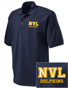 Napa Valley Language Center Dolphins Embroidered Tall Men's Pique Polo
