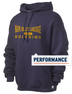 Napa Valley Language Center Dolphins Russell Men's Dri-Power Hooded Sweatshirt