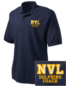 Napa Valley Language Center Dolphins Embroidered Tall Men's Silk Touch Polo