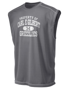 Carl E Gilbert Elementary School Grizzlies Champion Men's 4.1 oz Double Dry Odor Resistance Muscle T-Shirt