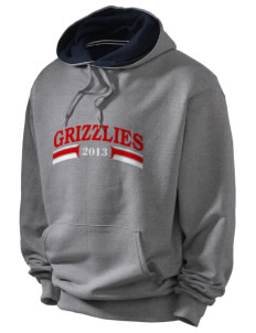 Carl E Gilbert Elementary School Grizzlies Champion Men's Hooded Sweatshirt