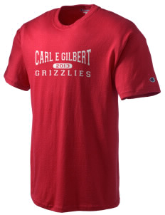 Carl E Gilbert Elementary School Grizzlies Champion Men's Tagless T-Shirt