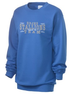 Buena Park Junior High School Stallions Unisex 7.8 oz Lightweight Crewneck Sweatshirt
