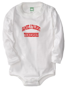 Samuel E Talbert Middle School Thunderbirds  Baby Long Sleeve 1-Piece with Shoulder Snaps