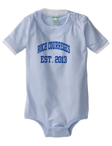 Roch Courreges Elementary School Cougars Baby One-Piece with Shoulder Snaps