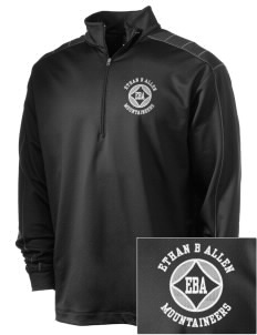 Ethan B Allen Elementary School Mountaineers Embroidered Nike Men's Golf Dri-Fit 1/2 Zip