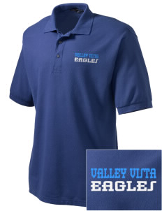 Valley Vista High School Eagles Embroidered Tall Men's Silk Touch Polo