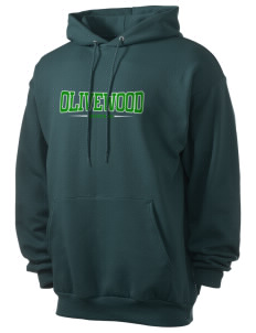 Olivewood Elementary School Mustang Men's 7.8 oz Lightweight Hooded Sweatshirt