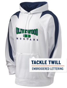 Olivewood Elementary School Mustang Holloway Men's Sports Fleece Hooded Sweatshirt with Tackle Twill