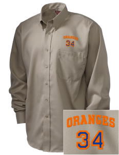 Valencia Elementary School Oranges  Embroidered Men's Nailhead Non-Iron Button-Down