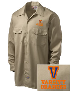 Valencia Elementary School Oranges Embroidered Dickies Men's Long-Sleeve Workshirt