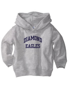 Diamond Elementary School Eagles  Toddler Fleece Hooded Sweatshirt with Pockets