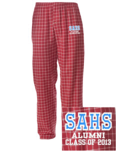 Santa Ana High School Saints Embroidered Men's Button-Fly Collegiate Flannel Pant