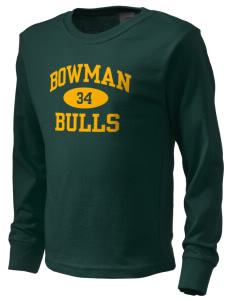 Bowman Elementary School Bulls  Kid's Long Sleeve T-Shirt