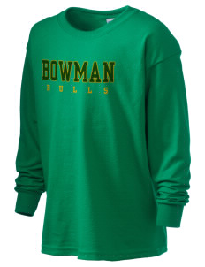 Bowman Elementary School Bulls Kid's 6.1 oz Long Sleeve Ultra Cotton T-Shirt