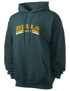Bowman Elementary School Bulls Men's 7.8 oz Lightweight Hooded Sweatshirt