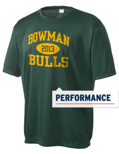 Bowman Elementary School Bulls Men's Competitor Performance T-Shirt