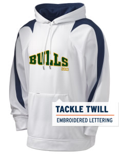 Bowman Elementary School Bulls Holloway Men's Sports Fleece Hooded Sweatshirt with Tackle Twill