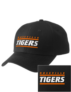 Roseville High School Tigers  Embroidered New Era Adjustable Structured Cap