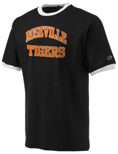 Roseville High School Tigers Champion Men's Ringer T-Shirt